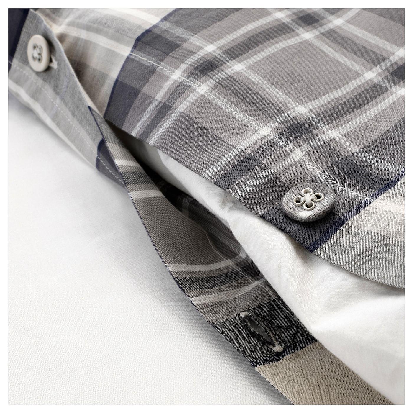 Smalruta Duvet Cover And Pillowcases Gray Check Ikea