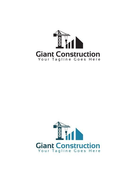 giant construction logo template construction design pinterest