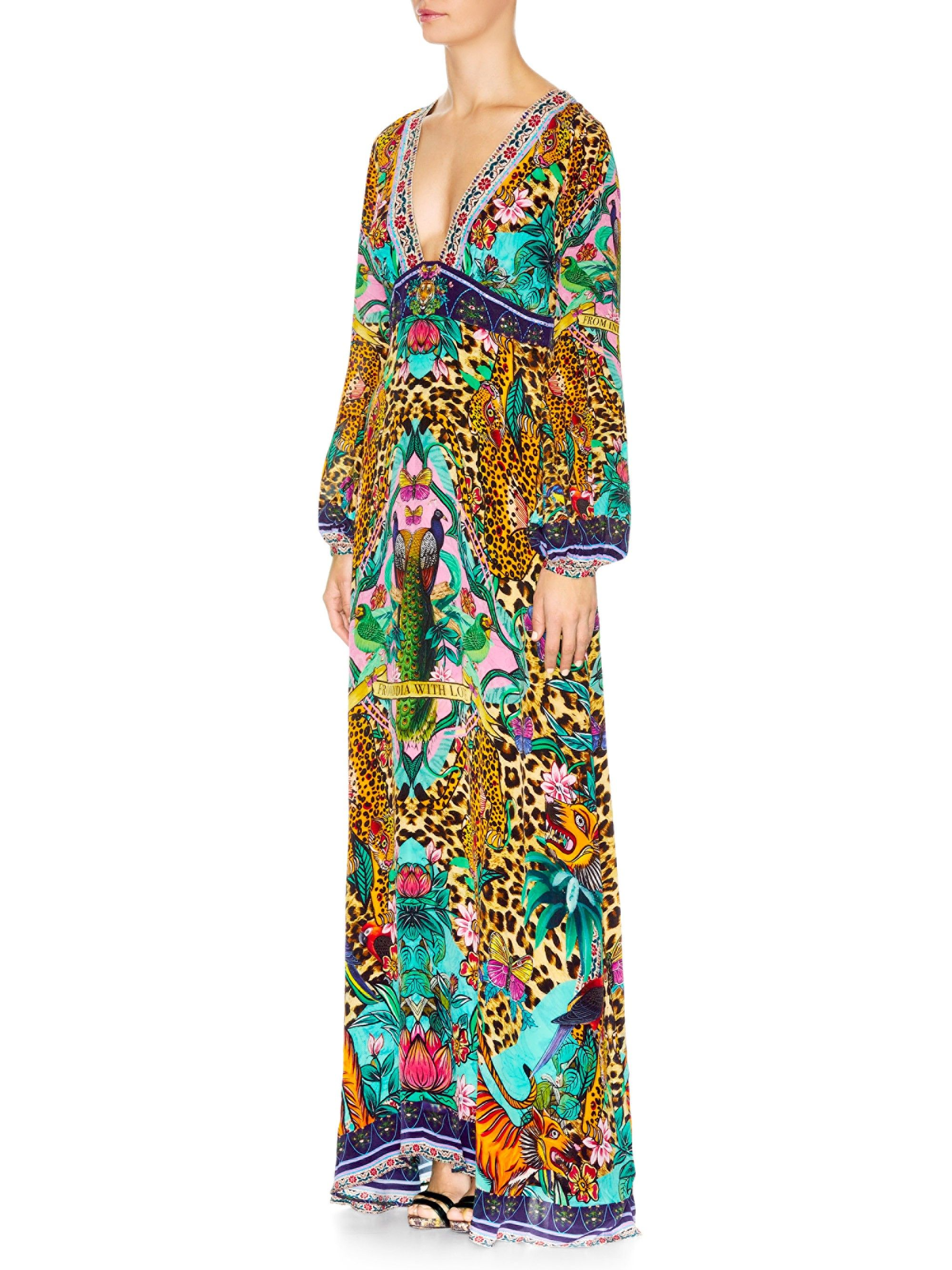 Camilla bell sleeve maxi dress the jungle book xsmall products