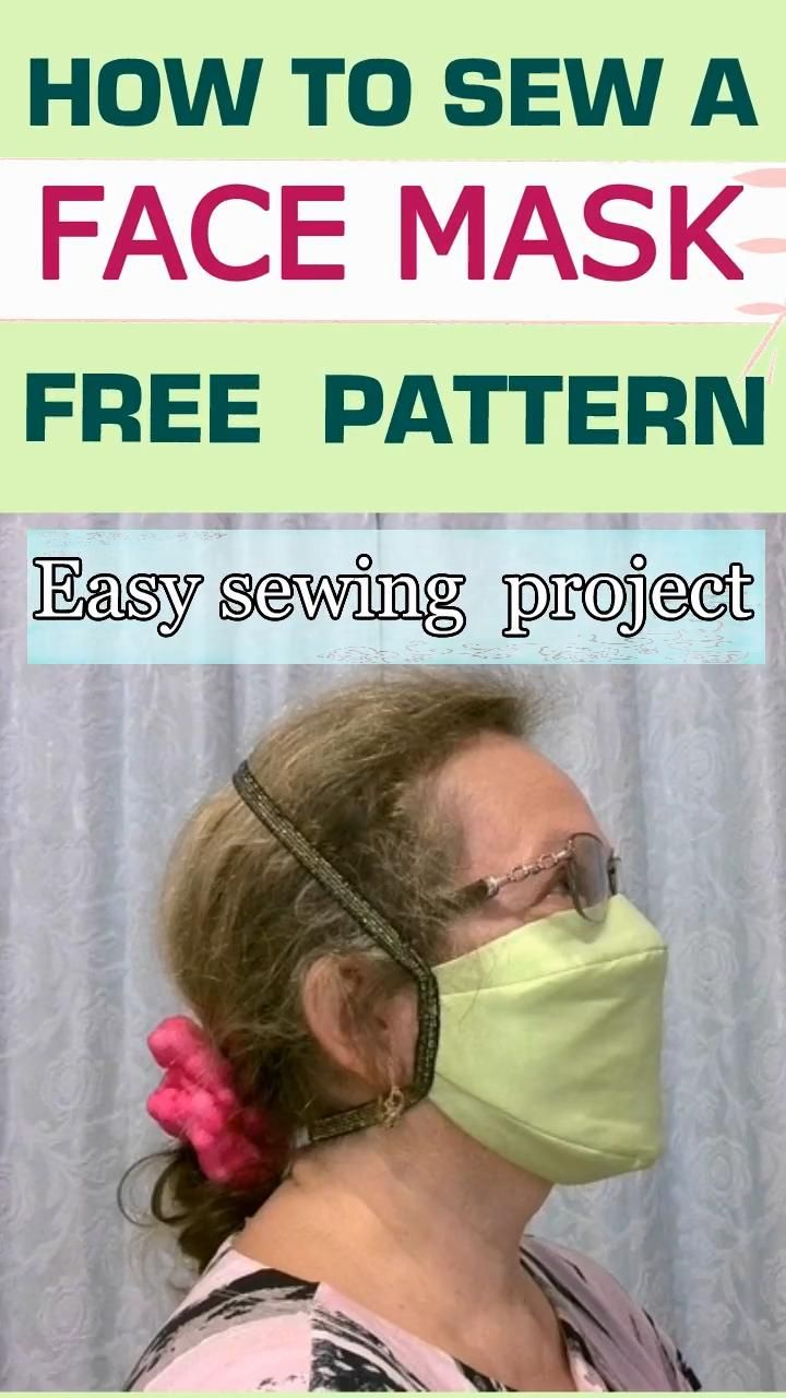 Photo of How to make a fitted face mask from fabric plus a free printable mask pattern-video sewing tutorial