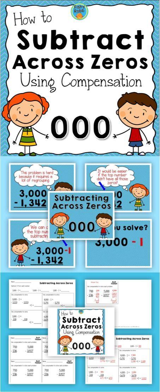 Subtracting Across Zeros Powerpoint & Practice | Math, School and ...