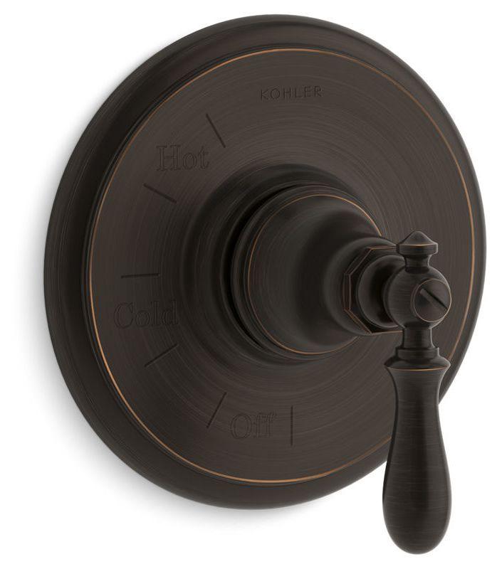 Erkunde Öl Eingerieben Bronze, Wasserhähne Und Noch Mehr! Kohler  K TS72767 9M Artifacts Pressure Balanced Valve Trim Only With Lever Handl