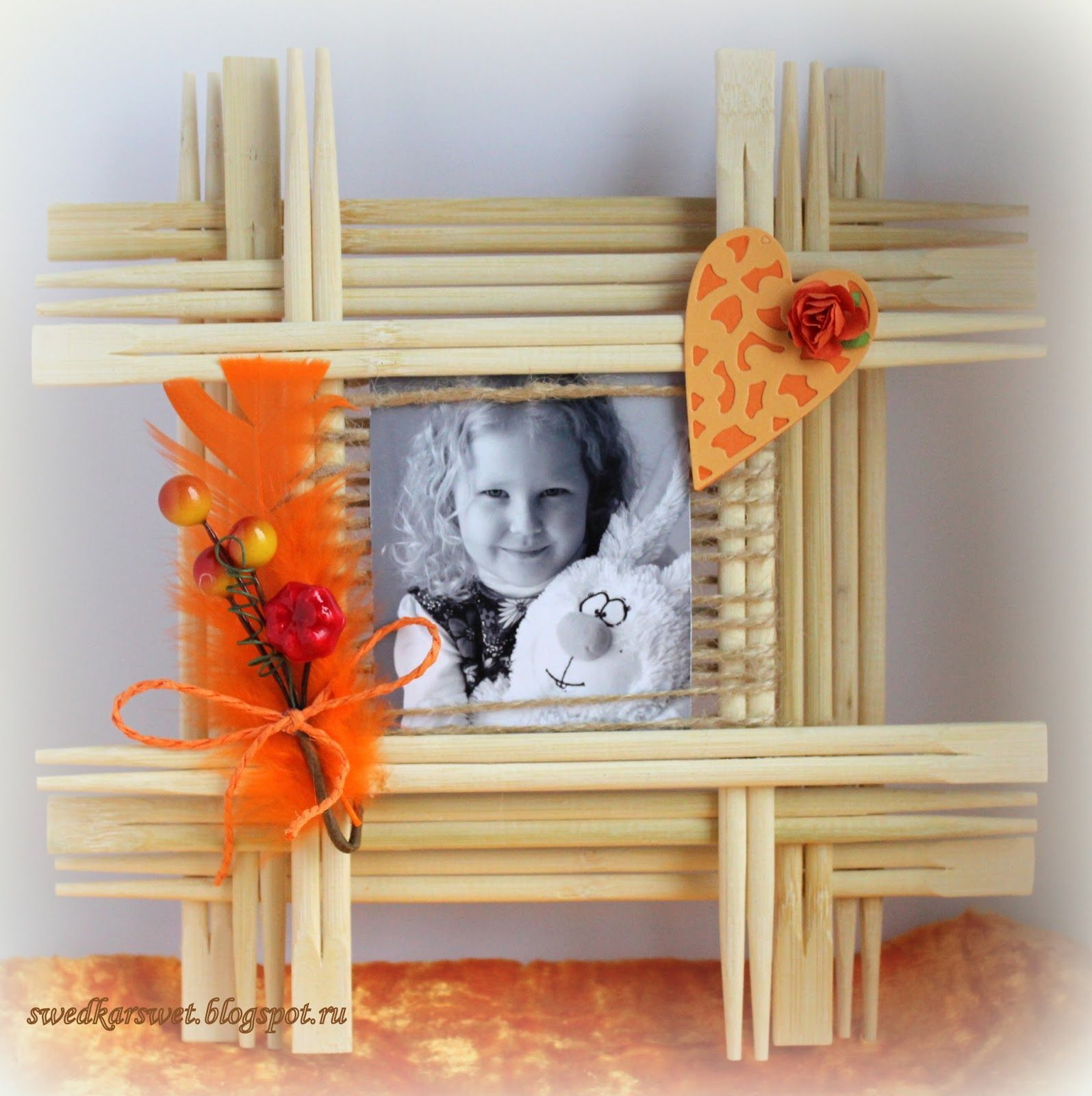 Swedka: Рамочка из палочек для суши   Палочки   Pinterest