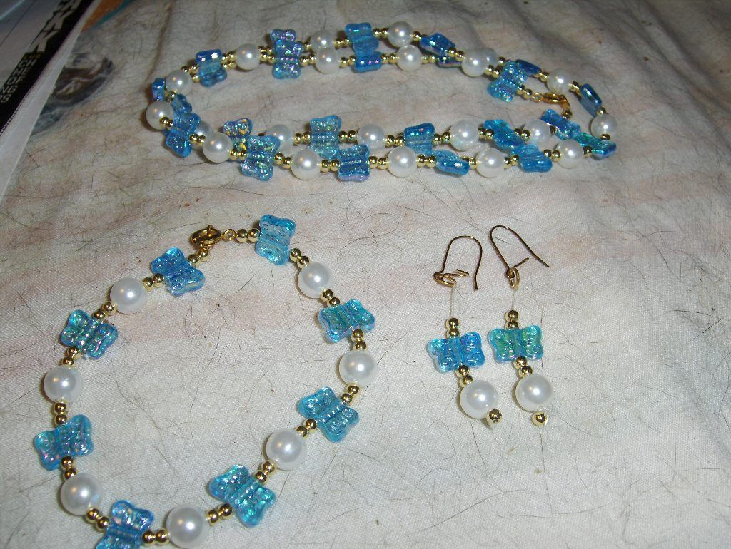 """""""Baby Blue Butterflies"""" 3 piece set --- LIMITED QUANTITY --- $5.00 + $3.00 shipping in the USA"""