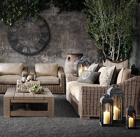 87 Provence Sofa Sofas Restoration Hardware Outdoor Living Space Outdoor Rooms Outdoor Living