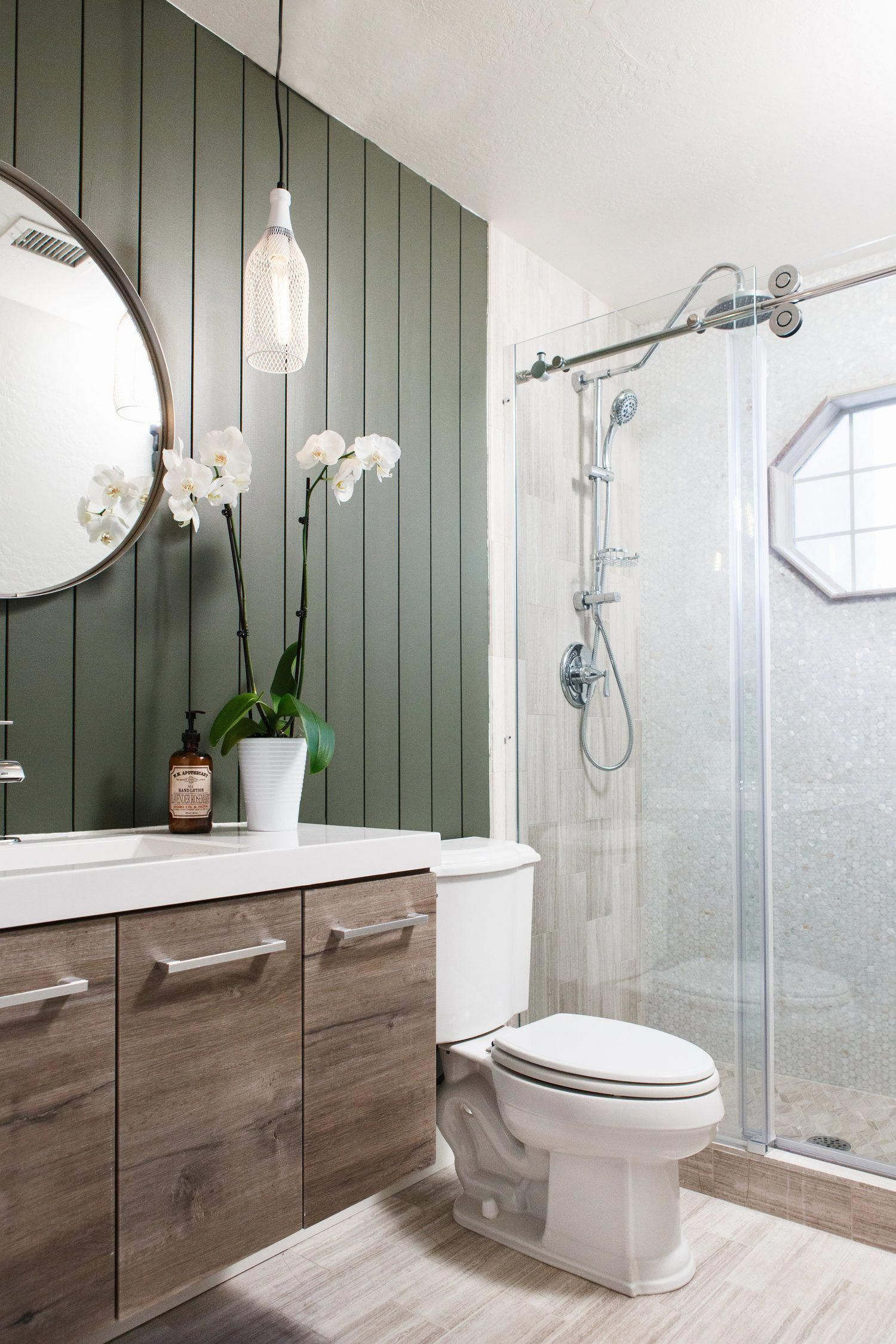 GUEST BATHROOM REMODEL | Gray Bathroom Ideas Colour ...