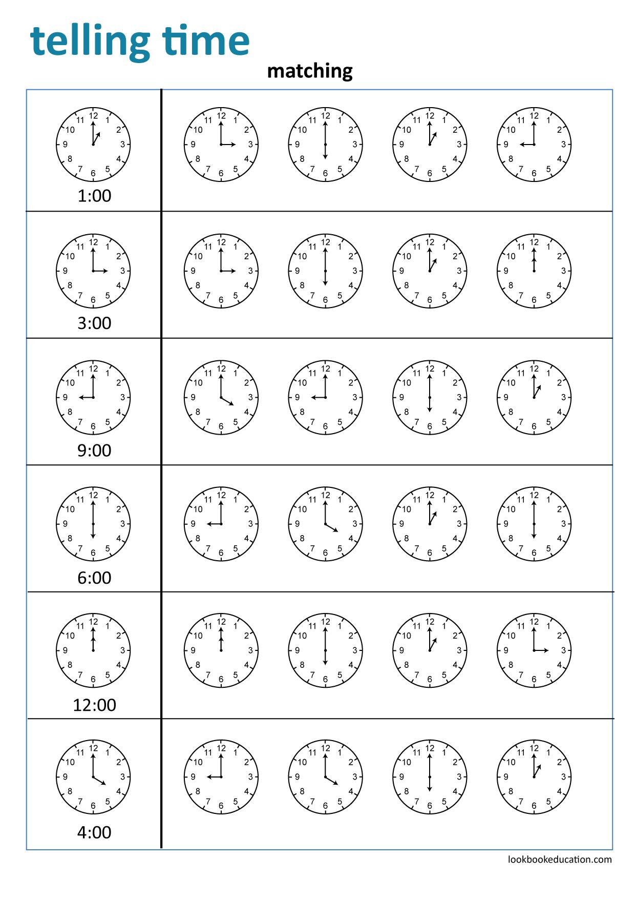 Worksheet Telling Time Clock Worksheets Childrens Worksheets First Grade Worksheets [ 1756 x 1242 Pixel ]