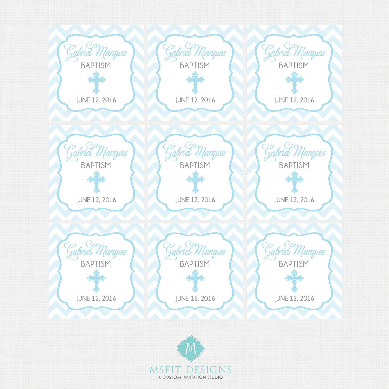 Printable Baptism Favor Tags