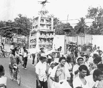 Image of Indians celebrating Hosay in Jamaica in 1989 Jamaica Gleaner : Pieces of the Past:The Arrival Of The Indians