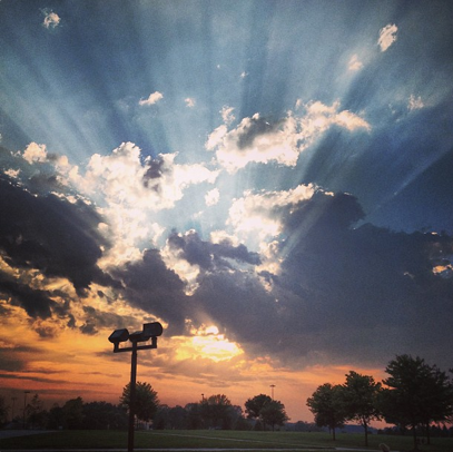 One of many beautiful sunsets on campus! #gvsu
