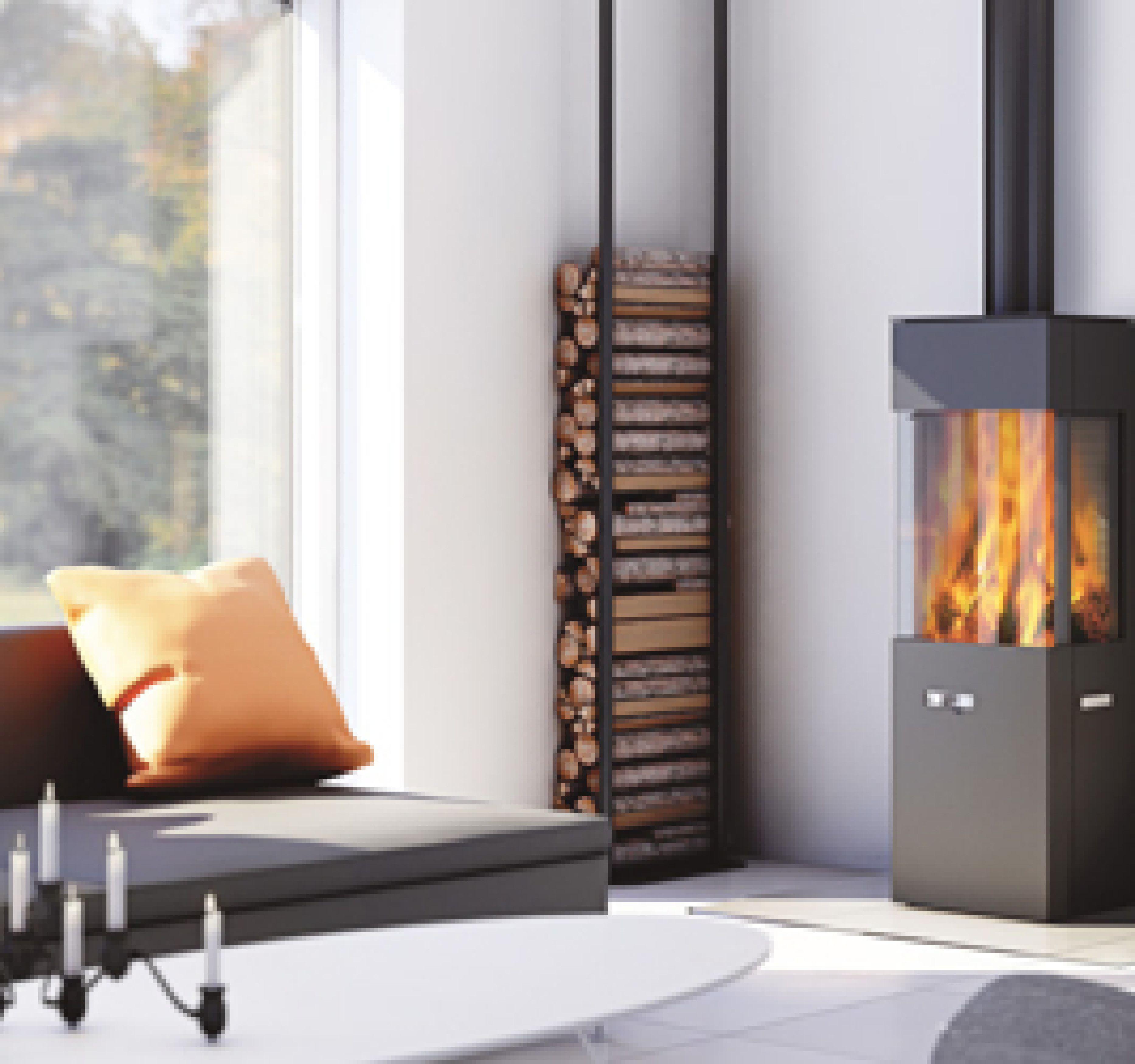 vrijstaande hoekige houtkachel van attika q 20 tibas. Black Bedroom Furniture Sets. Home Design Ideas