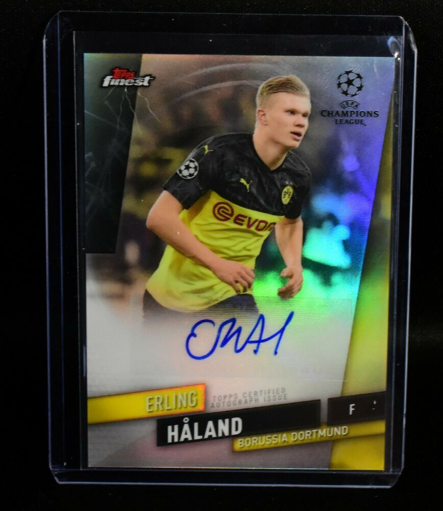 Erling Braut Haaland Autograph 2020 Topps Finest Uefa Champions League Rc Ssp 887521087457 Ebay In 2020 Champions League Uefa Champions League League