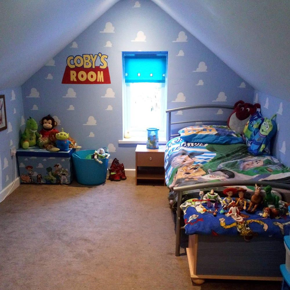 A Crafty Mum Transformed Her Little Boy S Room Into Andy S Toy Story Bedroom For Just 100 Toy Story Bedroom Bedroom Decor Boy S Room