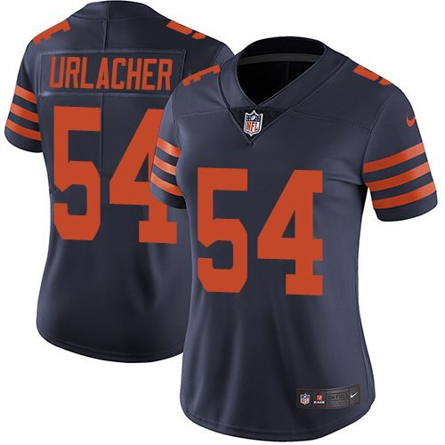 save off 4ee34 df638 Nike Bears  54 Brian Urlacher Navy Blue Alternate Women s Stitched NFL  Vapor Untouchable Limited JerseyAndNFL Jerseys