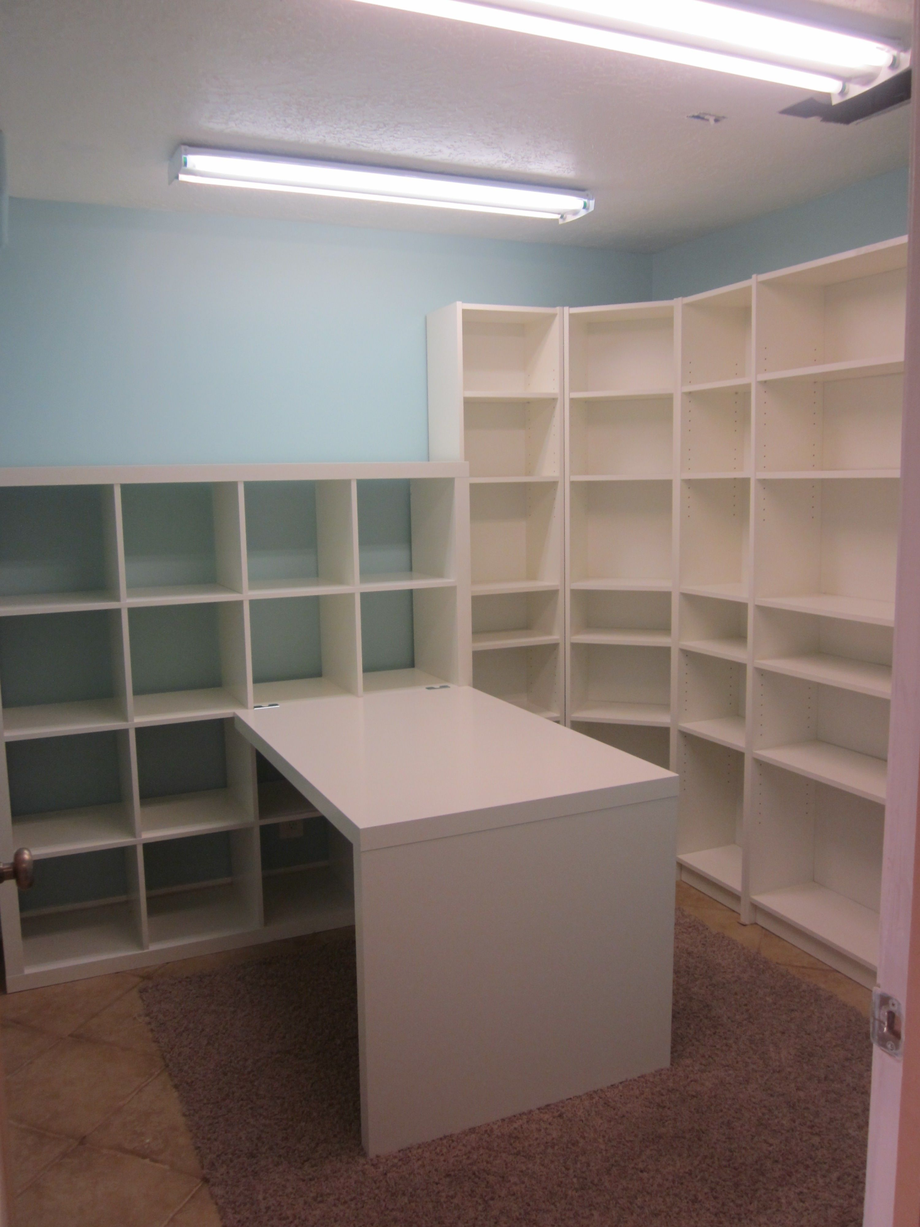 Craft Room / Sewing Room Ideas Using Lots Of Shelves. Description From  Pinterest.com