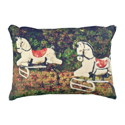 Quot Let 39 S Ride Quot Horses Rocking Horse Outdoor Pillow Retro Gifts Style Cyo Diy Special Idea Horse Throw Pillows Outdoor Pillows Red Pillows