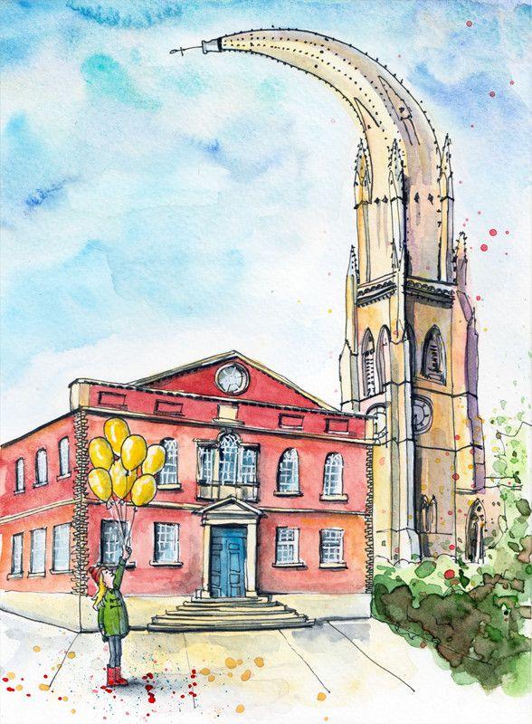 Square Chapel Anniversary Illustration Sophie Peanut