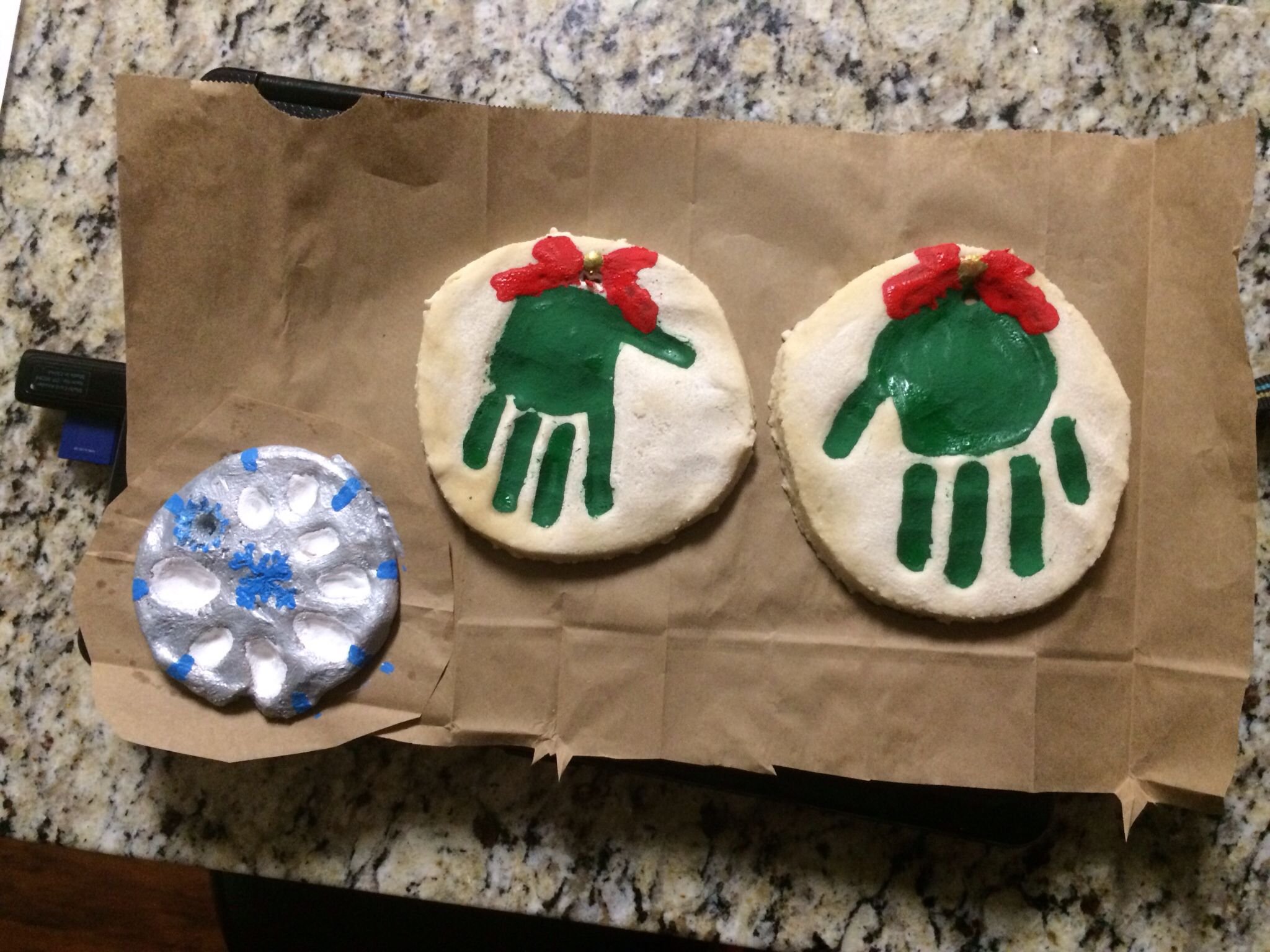 Christmas Craft Ideas For 2 Year Olds Part - 15: Our Salt Dough Ornaments :) I Really Enjoyed Making These For The Girls  Surprisingly Our. Kids Christmas CraftsChristmas ...