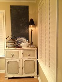 Roxanne's cabinet she pulled from the trash and painted with ASCP