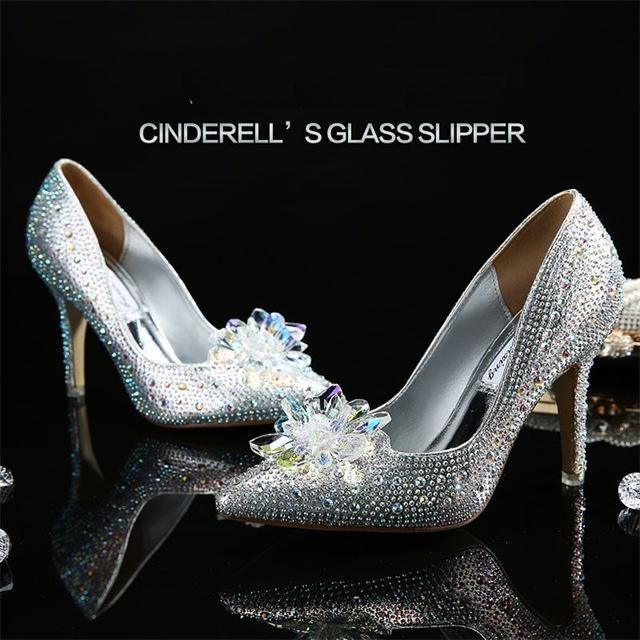 Cinderella Crystal Shoes | Crystal shoes, Glass slipper and Crystal ...