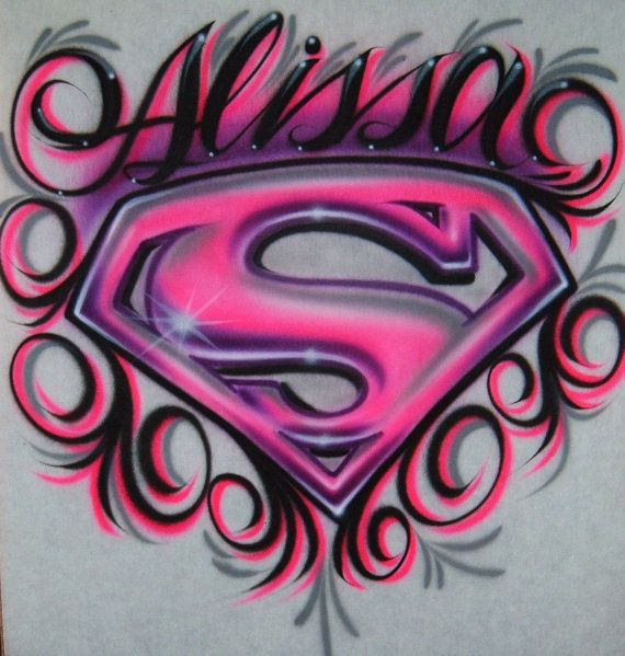 PERSONALIZED YOUTH SMALL 6-8 or MEDIUM 10-12 GIRL T-SHIRT LIGHT PINK SUPERGIRL