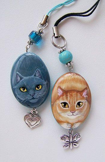 cute cat necklaces peque as ideas pinterest galets peints fimo and peinture sur galet. Black Bedroom Furniture Sets. Home Design Ideas