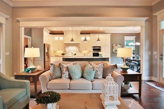 Set The Stage Coastal Living Rooms Open Kitchen And Living Room Family Room