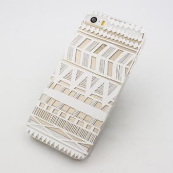 Clear Plastic Case Cover for Apple iPhone 5/5S, 5C, 6, 6Plus 6+ - Henna Itzli Mayan Aztec tribal native american indian ethnic $14.99 from Amazon