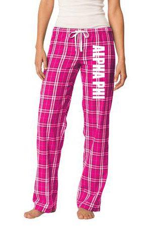 Alpha Phi Pajamas - Flannel Plaid Pant  from GreekGear.com
