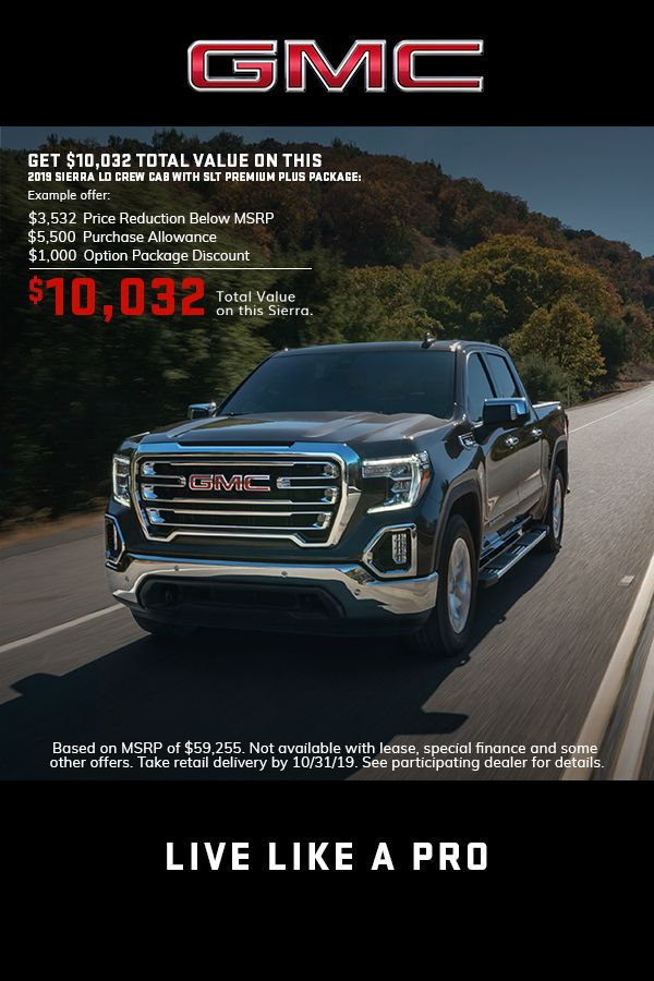 Explore 2019 Gmc Sierra Offers Lease Deals Gmc Crew Cab