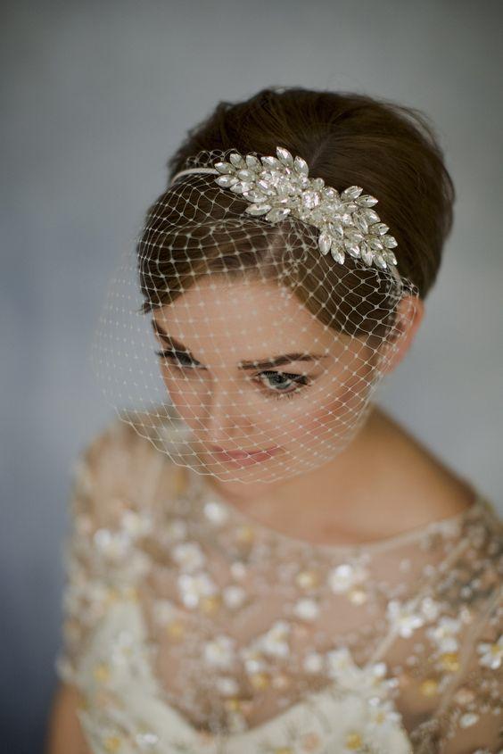 13 wedding Veils birdcage ideas