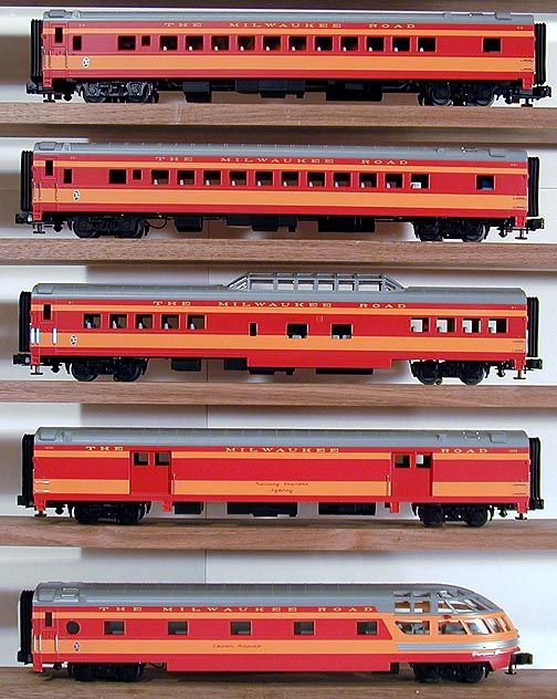 Mth Premiere Scale 20 6552 Milwaukee Road 5 Car 70