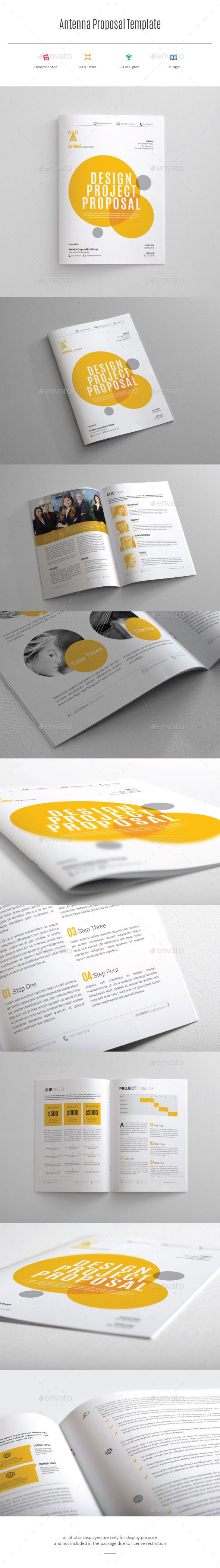 Indesign Proposal Template | Proposal templates, Proposals and Template