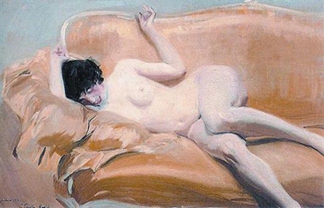 'Desnudo en el diván amarillo' (1912), de Joaquín Sorolla.