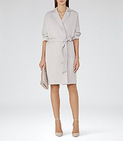 Manhattan Thistle Fluid Trench Coat - REISS