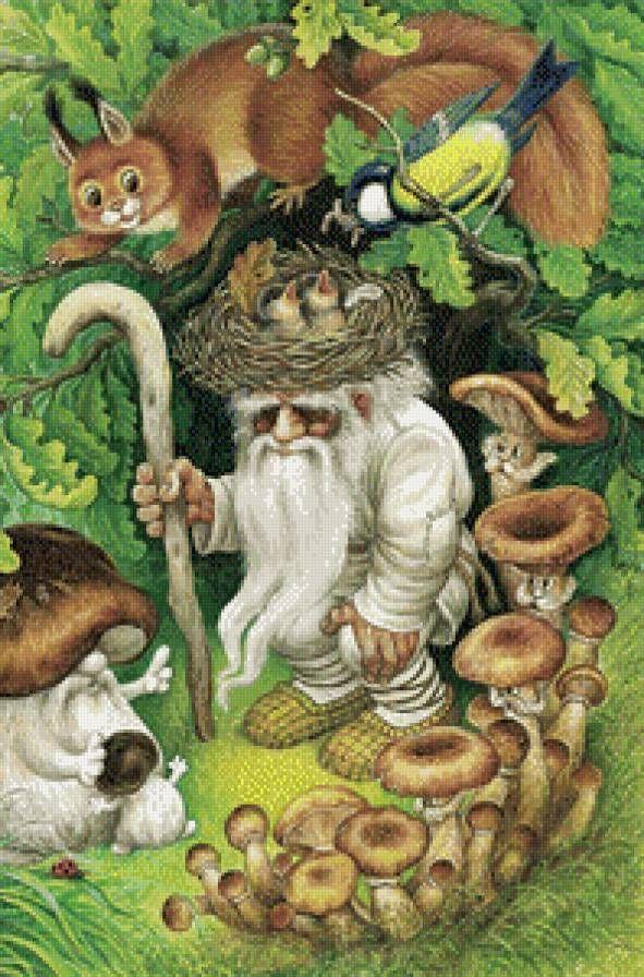 лесовик - Схемы вышивки - Светлана159 - Авторы - Портал «Вышивка крестом»