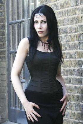 black satin strap corset  covetable corsetry  cosplay