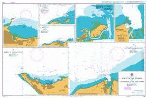 British Admiralty Nautical Chart 2799: Ports on the Coasts of Colombia and Ecuador