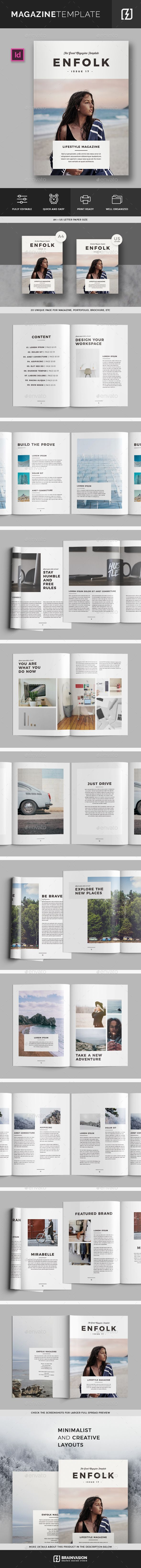 Magazine Template | Pinterest | Template and Brochures
