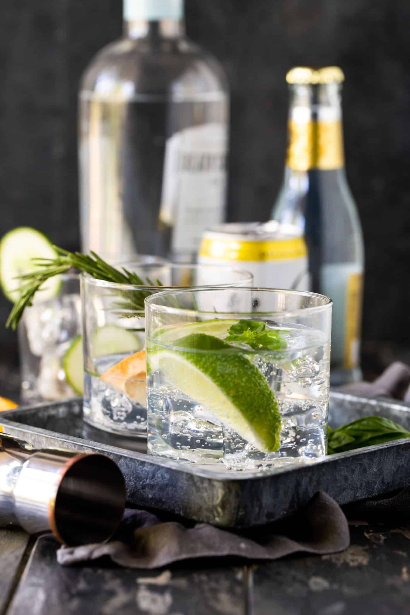 Set up a DIY Gin & Tonic Bar and let your guests make