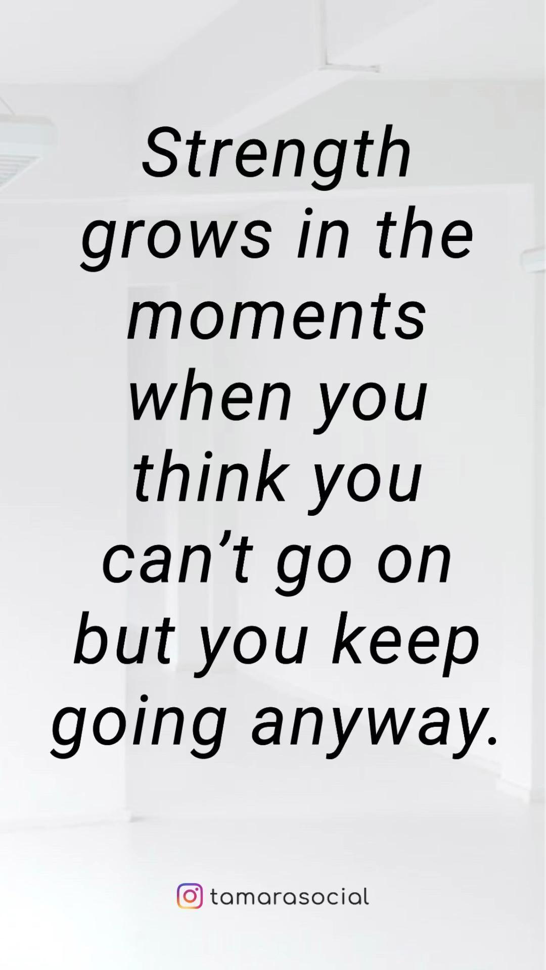 Strength grows.