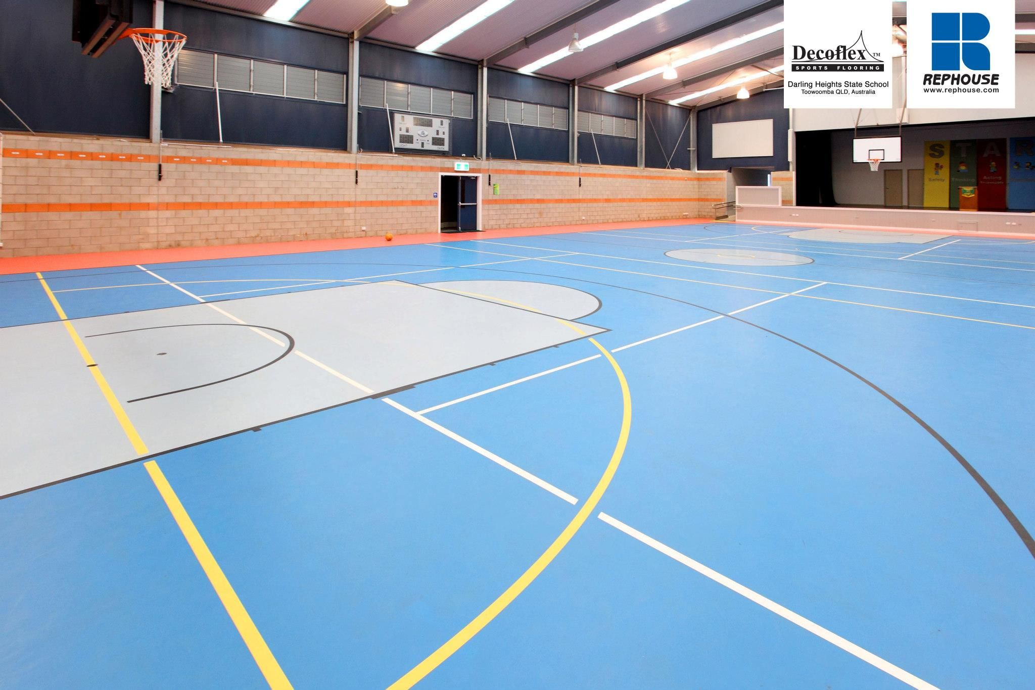Decoflex Universal Seamless Polyurethane Indoor Sports Flooring Darling Heights State School