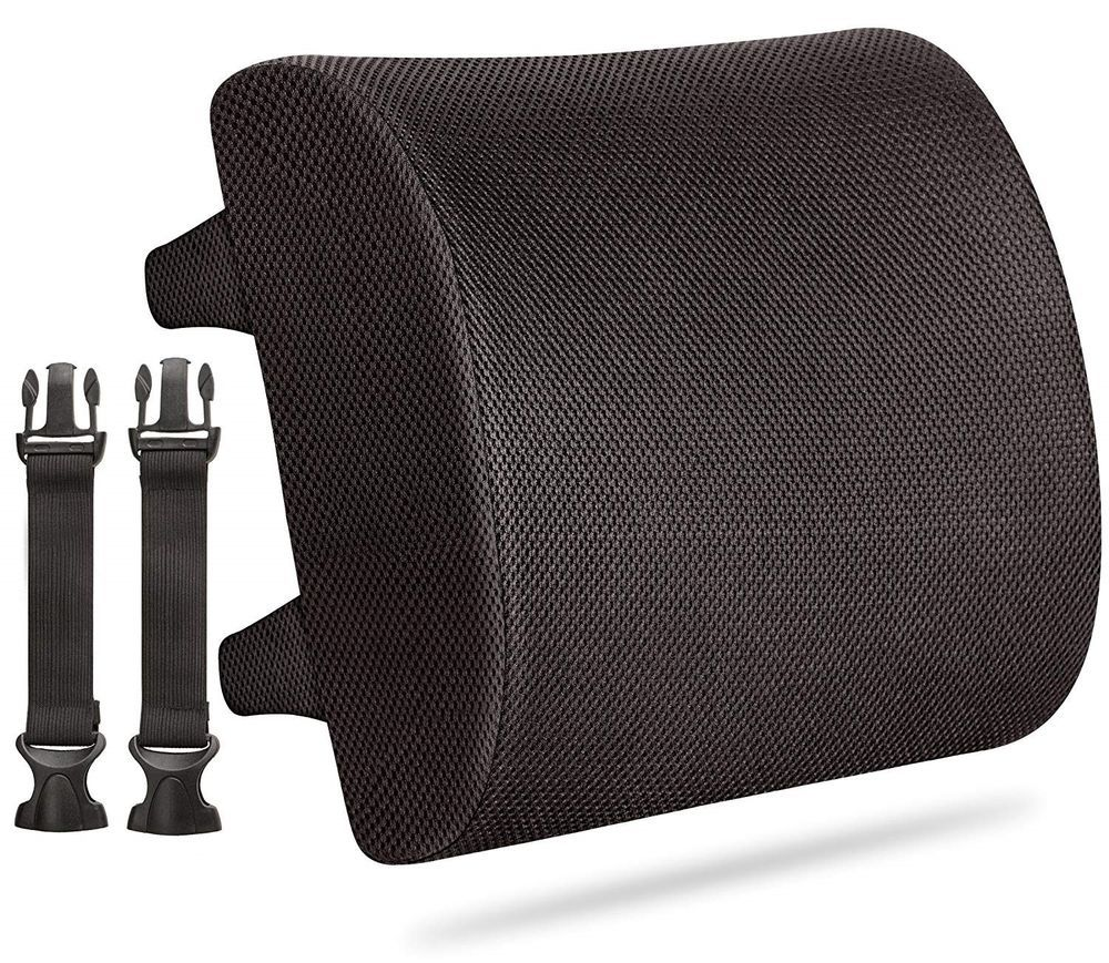 Lumbar Cushion Back Support Travel Pillow Memory Foam Car Seat Home Office Chair Memory Foam Cow Print Chair Cushions
