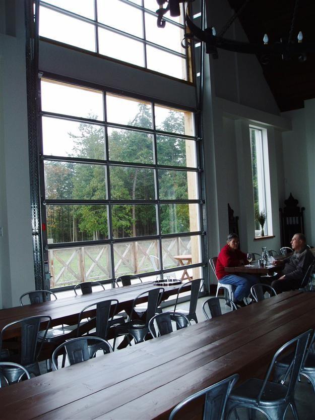 aluminum full view glass garage doors on restaurant  Overhead Doors  Gates  Harbour Door