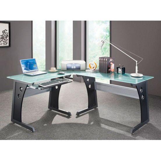 Rtp 10215 Modern Glass Desk Glass Computer Desks Computer Desks For Home