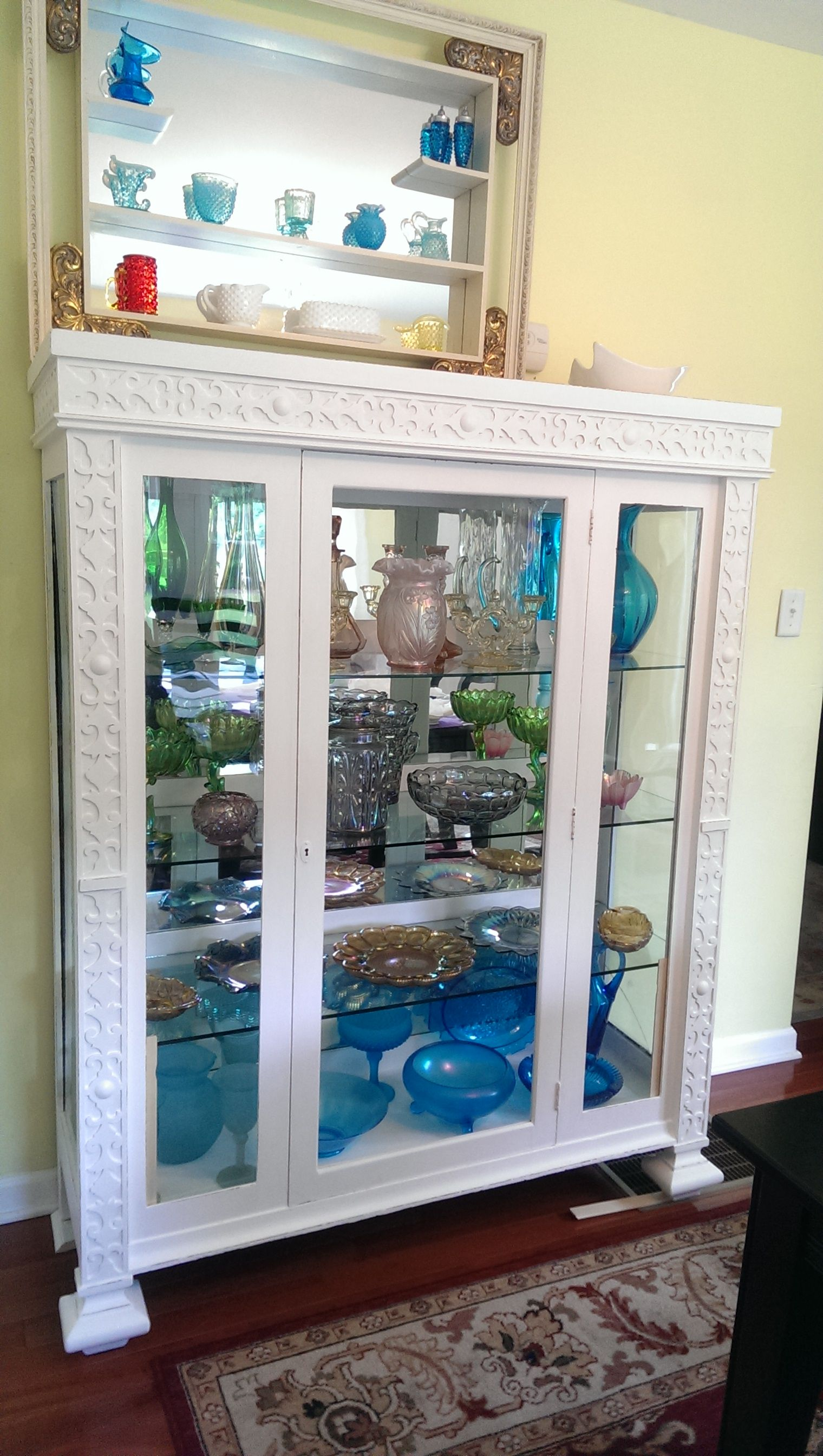 Carnival Glass And More In Recently Refinished Antique Italian