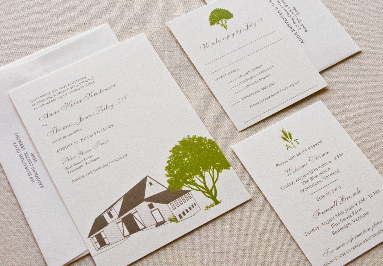 Custom Barn Wedding Invitations by Laura Macchia | my portfolio ...