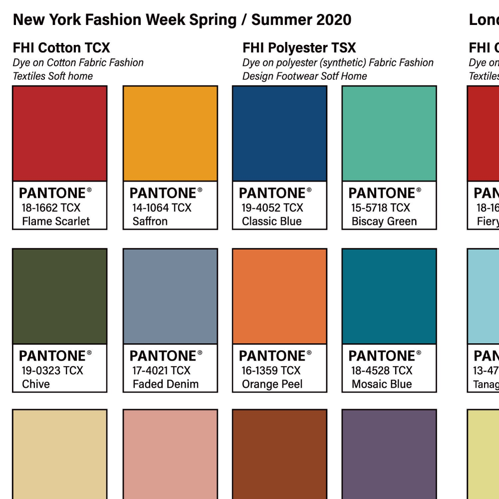 pantone fashion trend color palette 2020ss 2019fw etsy in 2020 trends pink lavender 7444c