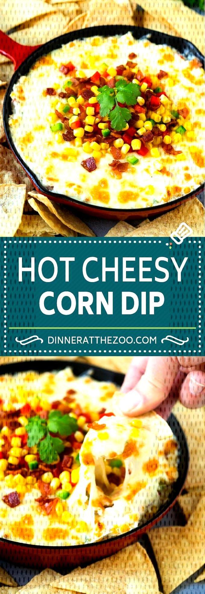 Corn Dip Recipe | Hot Cheese Dip | Bacon Dip