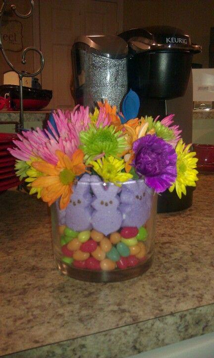 Peeps Easter arrangement